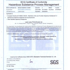 IECQ QC080000:2012—-危害物質管理體系認證